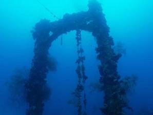 パラオ沈船マスト