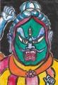 2蓮華王院 三十三間堂散脂大将顔面が裂け、中から別の顔が現れる (1)