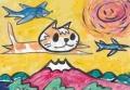 4猫のいる絵 猫kキューピット(3)