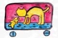 4猫のいる絵キースへリング (4)