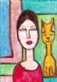 3猫のいる名画迷画モジリアニ (1)