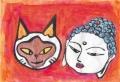 4猫と仏像
