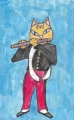 4猫のいる絵エドゥアール・マネ笛を吹く少年 (4)