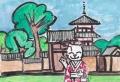 3猫のいる絵法起寺