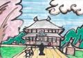 3猫のいる絵東大寺 (1)