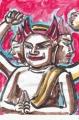 3大威徳明王騎牛像平安時代銅像鍍金奈良国立博物館なら仏像館 (3)