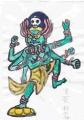 3奈良仏像館五大明王 南方 - 軍荼利明王(3)