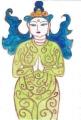 3緑の菩薩は