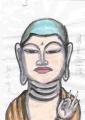 2弘仁寺明星堂の明星菩薩立像奈良国立博物館仏像館 (3)