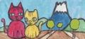 4猫と富士猫ダルマ (2)
