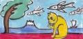 4猫と富士ピンクの鰯雲