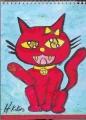 4猫の絵赤猫 (4)