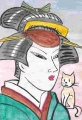 4猫のいる浮世絵写楽 (1)