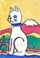 4猫のいる絵お稲荷様白狐 (5)