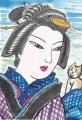 4猫のいる浮世絵百人美女 浅草寺(2)