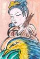 2王子喬は笙(しょう)という楽器を吹いては鳳凰が鳴くような音を出