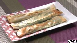 カリッとジューシー 小松菜の棒餃子