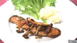 鮭のソテー~メープルマスタードソース〜