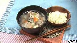 炊飯器で簡単おかず鶏スープ~ネギザーサイのそうめんとともに~