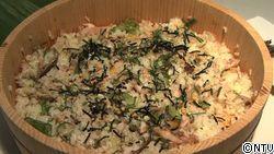 初夏のさわやかご膳〜あじの干物ちらし寿司・簡単なます・即席おつゆ