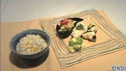 鶏肉の夏のおつまみ包み蒸しと、新生姜とトウモロコシの炊き込みごはん
