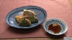 鶏ひき肉のダブルハンバーグ