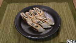 鶏肉の梅紫蘇風味春巻き