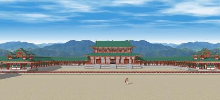 大極殿と左右の楼閣