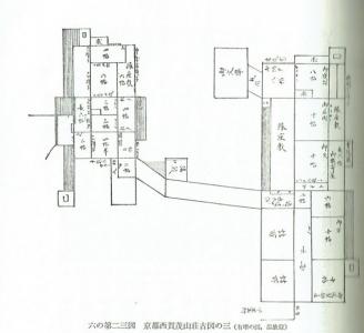 西賀茂山荘古絵図(温古録)