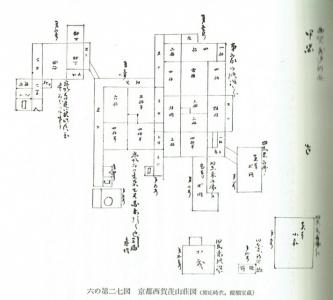 西賀茂山荘古絵図(慶応・醍醐家)