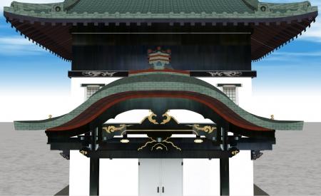 九条邸文庫蔵正面ズーム