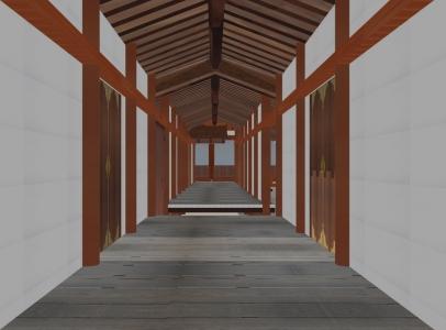 中門廊下内部