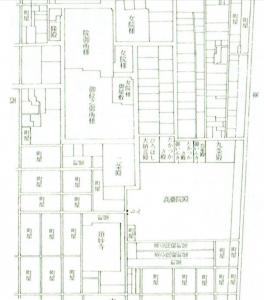 中むかし公家町絵図(1611~1615)