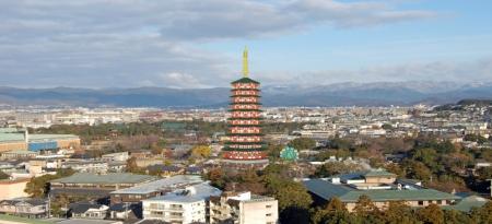 法勝寺八角九重塔と京都盆地
