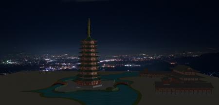 法勝寺と夜景