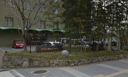 リーガロイヤルホテル京都前の屯所碑2