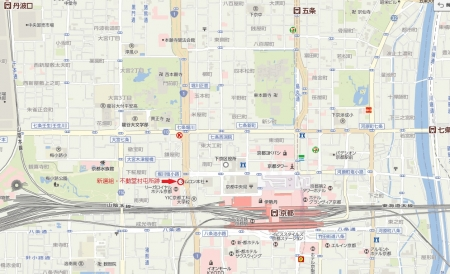 新選組・不動堂村屯所跡地図