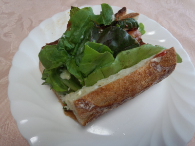 朝ランとサンドイッチ