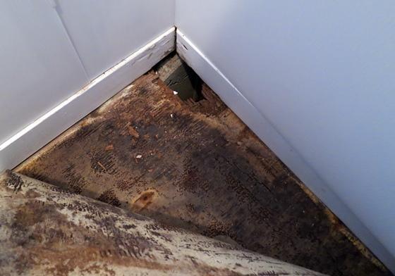 トイレ床腐食穴