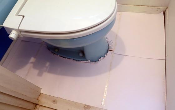 トイレ床腐食型紙