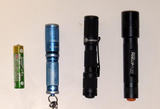 LEDライト3種比較