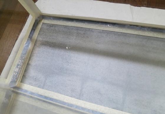 シリコンシーラント塗布