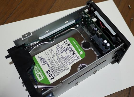 旧HDDケース内部セット