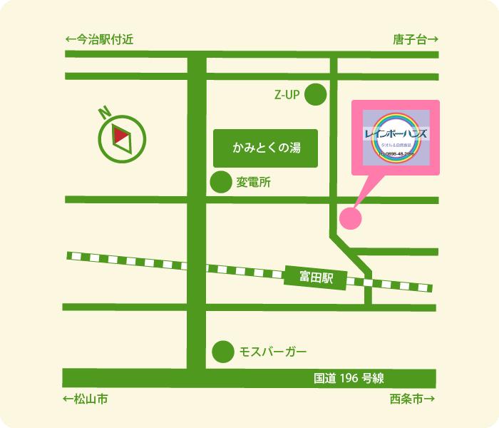 宇野タオル地図