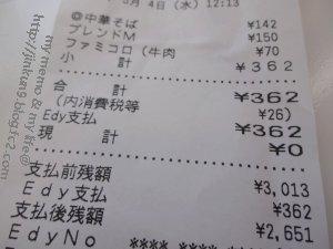 なんとなく5月04日 今日は362円のコンビニ飯 2