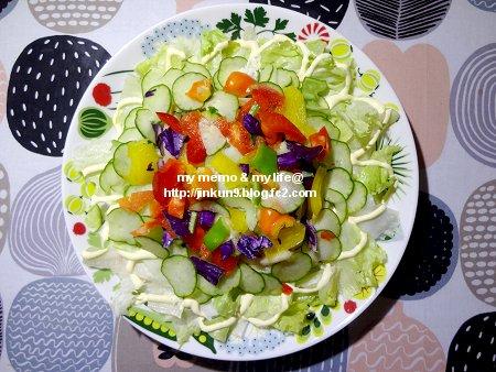 なんとなく5-22 帰宅後の晩ご飯はシンプル野菜冷やしうどん1