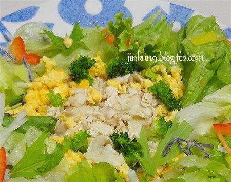 鶏ムネ肉のスライスサラダ