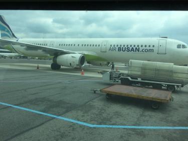 こちらの航空機も初!air釜山!