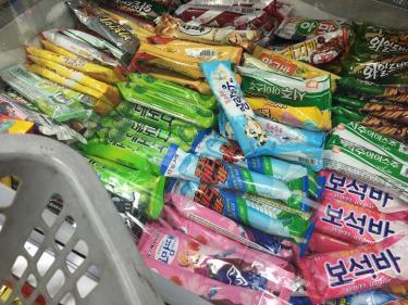 街のマートで買うアイス。