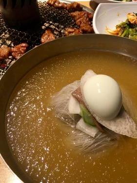 苦手な水冷麺を食すっ!
